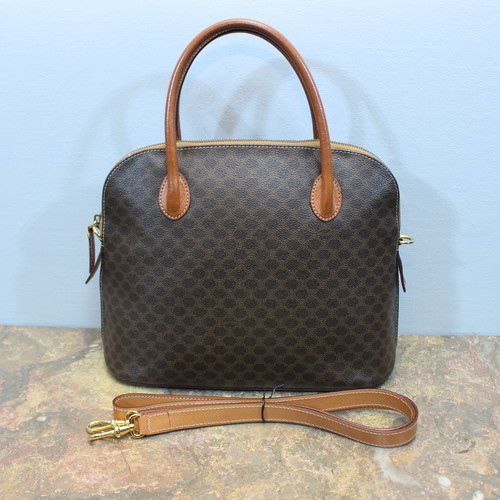 .OLD CELINE DOME TYPE MACADAM PATTERNED 2WAY SHOULDER BAG MADE IN ITALY/オールドセリーヌドーム型マカダム柄2wayショルダーバッグ 2000000031699