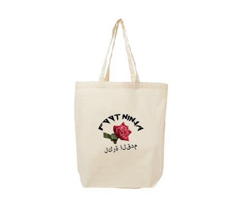 薔薇とトートバッグ