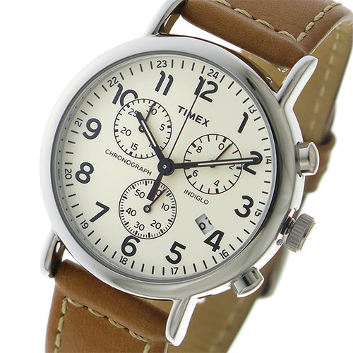 タイメックス TIMEX ウィークエンダー クロノ クオーツ メンズ 腕時計 TW2R42700 アイボリー アイボリー