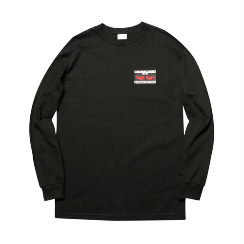 WHIMSY - FEET GAME L/S TEE (Black)