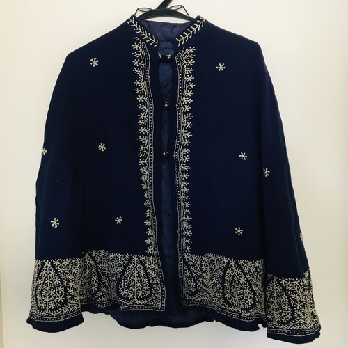 Embroidery blue vintage Cape