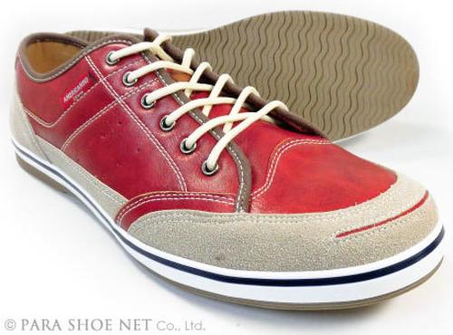 AMERICANINO(EDWIN)レザースニーカー カジュアルシューズ レッド(赤色)ワイズ3E(EEE)27.5cm、28cm(28.0cm)、29cm(29.0cm)、30cm(30.0cm)【大きいサイズ(ビッグサイズ)メンズ紳士靴/AE827-RED】