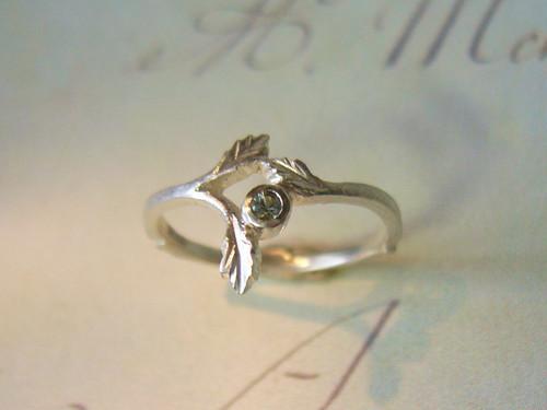受注製作 グリーンサファイアの指輪