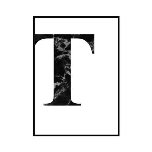 """T"" 黒大理石 - Black marble - ALPHAシリーズ [SD-000521] B4サイズ フレームセット"