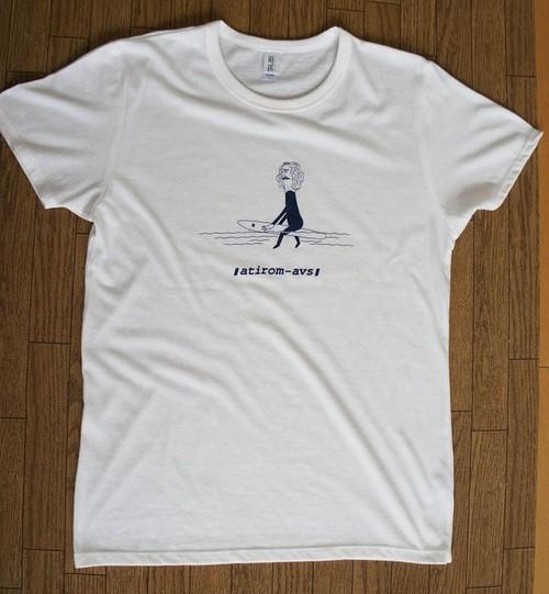 "atirom-avs  web限定Tシャツ ""APEX"" オフホワイト (超極小量生産)"