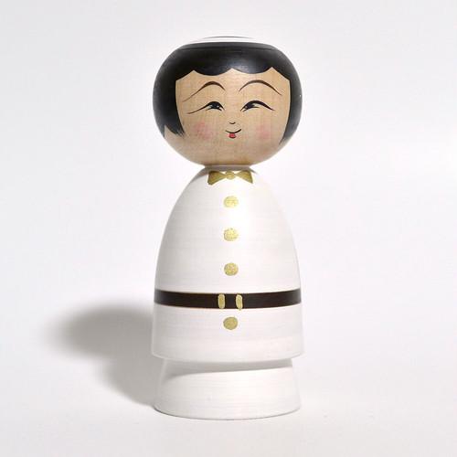 天使こけし(女の子) 約3.5寸 約10.3cm 平賀輝幸 工人(作並系)#0138