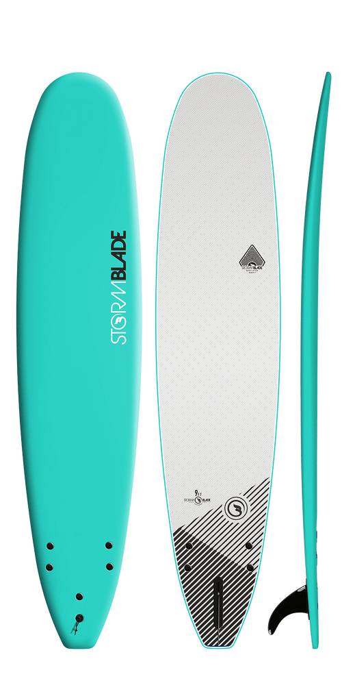 Storm Blade 9ft Surfboard / TURQUOISE  WHITE GRAPHIC