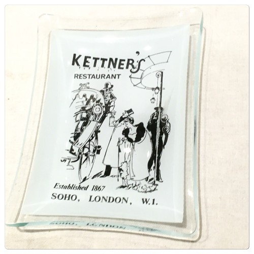 Antique Kettner's Restaurant Ashtray Made in England