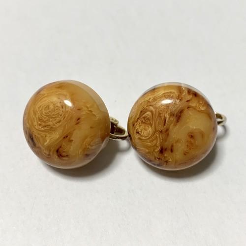 Vintage Butterscotch Marble Bakelite Earrings