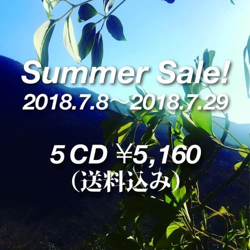 【50%OFF☆】5 CD Set - Summer Sale 2018