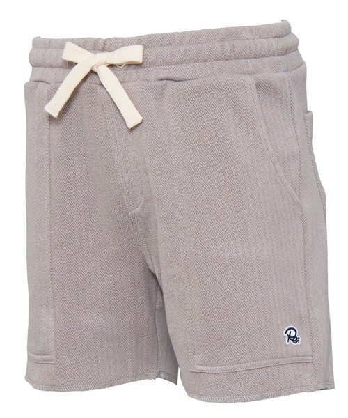 HERRINGBONE PATTERN SWEAT SHORTS[REP069]