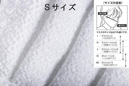 【Sサイズ】高級抗菌ちりめんマスク EcoGuard-1