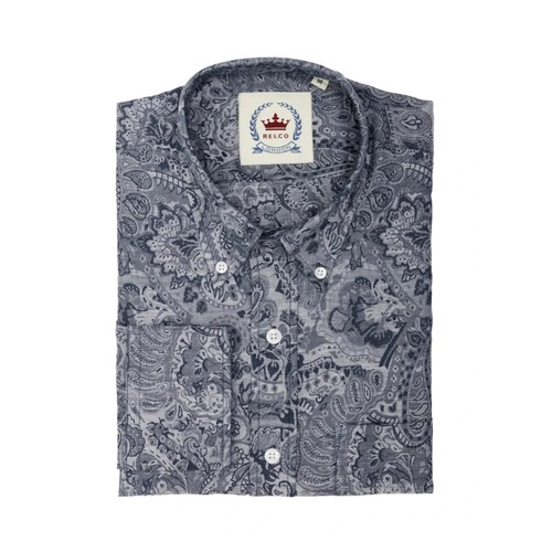 Relco London | Button Down Jaquard Paisley Shirt