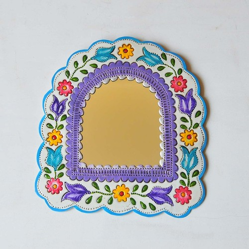 メキシコ ブリキ鏡(014)
