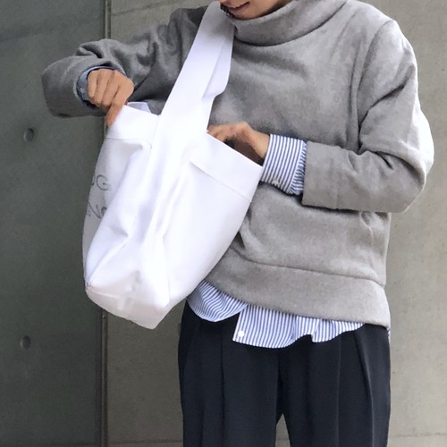 STAND NECK TOP/GRAY