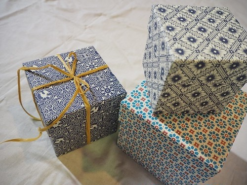 【Cartavarese】Square box set(geometric)