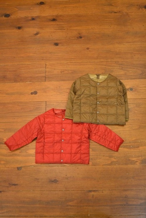 TAION / CREW NECK BUTTON DOWN JACKET(KIDS)