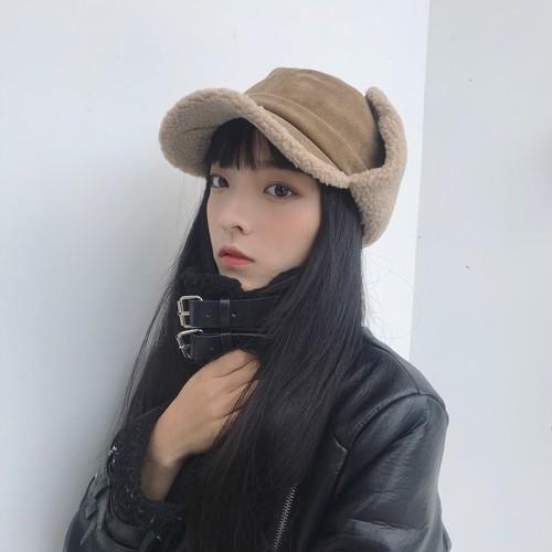 【送料無料】コーデュロイでほっこり♡ フライトキャップ キャップ 帽子 ファー