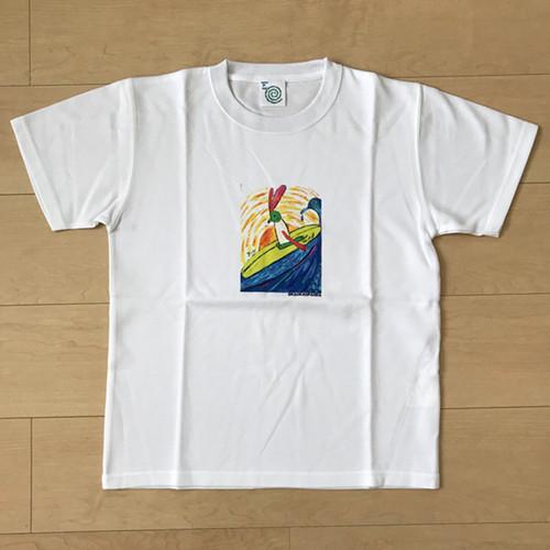 オールドTシャツ企画 スクエアプリントT サーフウサギ Sサイズ