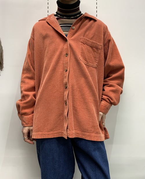 L.L.Bean corduroy shirt orange【L-REG】