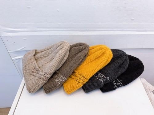 レタリングビニー ニット帽 ビニー 韓国ファッション