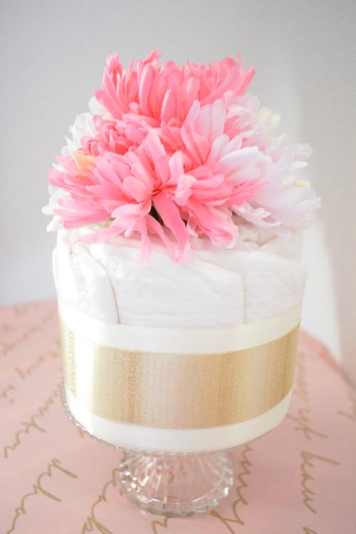 出産祝♥LAスタイルのおむつケーキ Pink