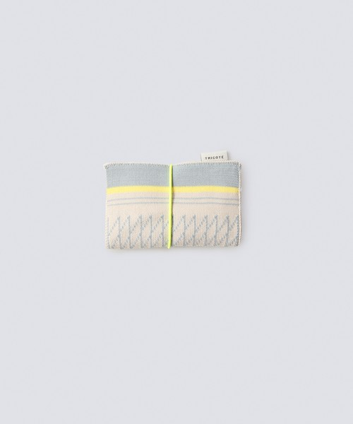 【TRICOTÉ】BUSINESS CARD HOLDER:メッシュボーダー柄