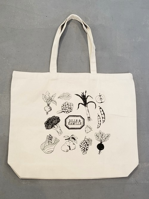 DILLE&KAMILLE Food pattern canvas bag【B-264】