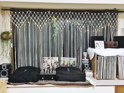 【送料無料】macrame curtain / wallart