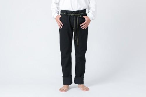 AF-7 66model BLACK slim standards denim jeans