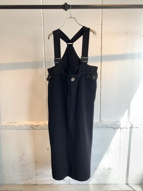 PONTI    NAPPING WOOL/WOOL GABRDINE JUMPER DRESS