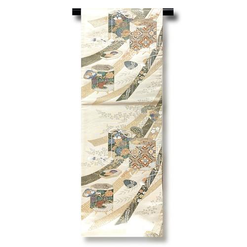 正絹袋帯 6-1943 モデル使用品 仕立上り