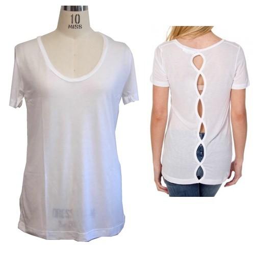 LnA エルエヌエー アメリカ トップス Mescal Tee カットソー レディース 無地 白 Tシャツ セクシー 背中開き バックセンターオフ XS S サイズ 各種 ブランド