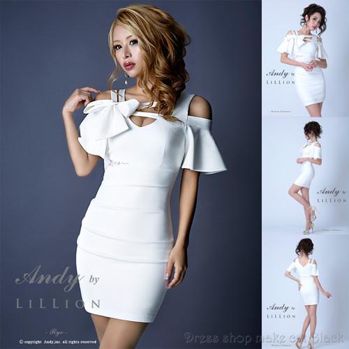 (S,Mサイズ) ミニドレス ¥24,624- (税込) キャバドレス ドレス パーティードレス  ANR-OK1594 LiLLion