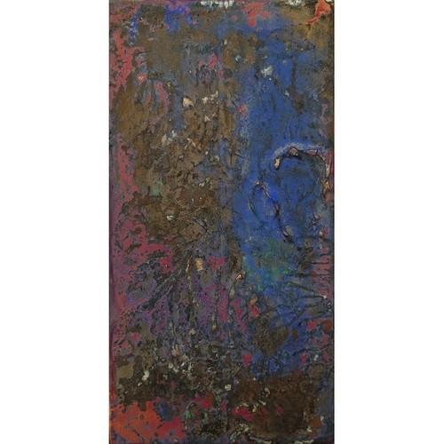「無題」 廃材の木片にアクリル * アート作品 抽象画 額縁 内野隆文 takafumiuchino
