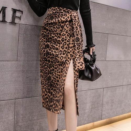 2色 elegant レオパードスリットスカート c2782