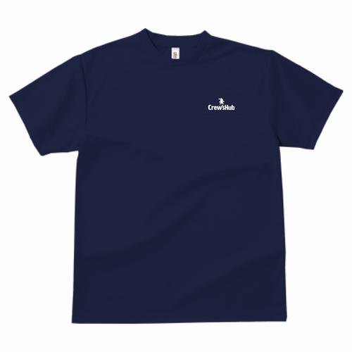 GLIMMER ドライTシャツ ワンポイント(ネイビー)