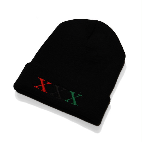 Stay Black Salute XXX BEANIE CAP (RED)