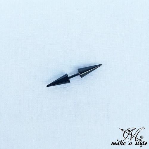 刺 鋲 トゲ 針 パンク スタッズ HIPHOP ピアス ブラック 黒 B系 ストリート系 男女兼用 メンズ レディース アクセサリー ゴージャス  664