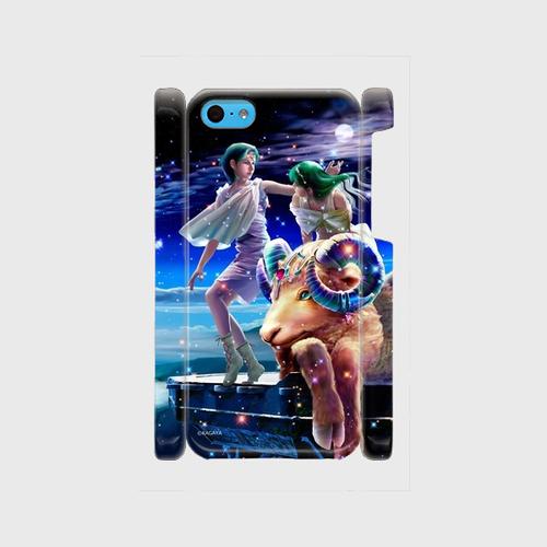 iPhone5,6,7/8ケース(ツヤあり):アリエス(牡羊座)01_aries(kagaya)