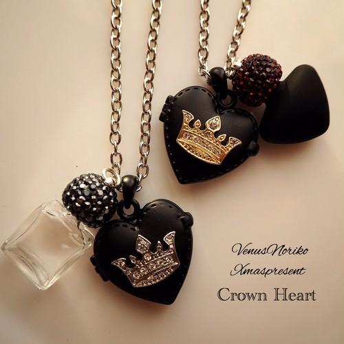 crownハートⅡ♥ペア(ロングネックレス)