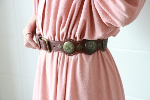 brown laether concho belt
