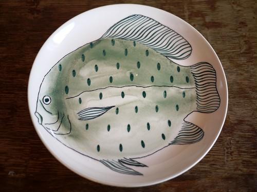 ARABIA アラビア KALA カラ 魚 プレート 19㎝  北欧 フィンランド  Anja Juurikkala