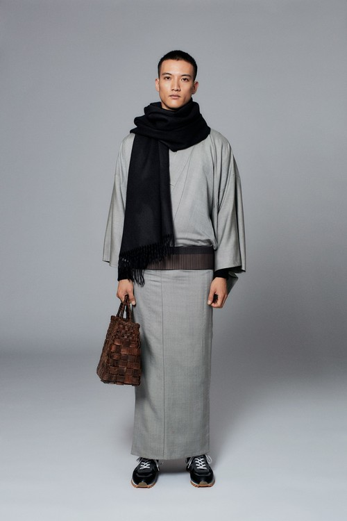 きもの / Silk-wool / Herringbone / 淀鼠(With tailoring)