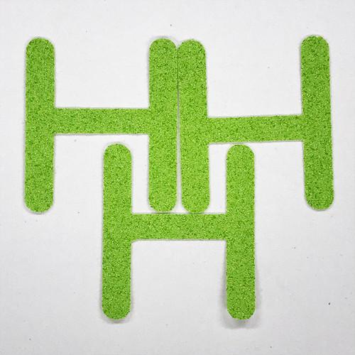 切り文字 A&Cペーパー パルプロックPBR‐006(グリーン) 粘着付 ローマ字「H」