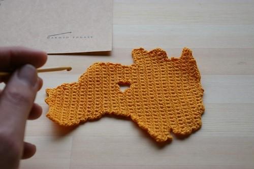 編み図 福島コースター DIY Knitting Pattern Fukushima Coaster