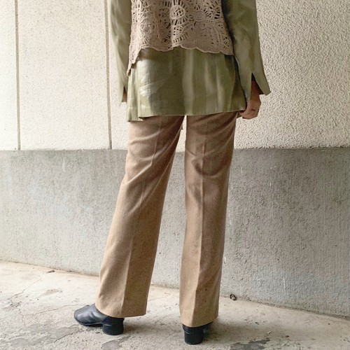 (LOOK) wool mix pants