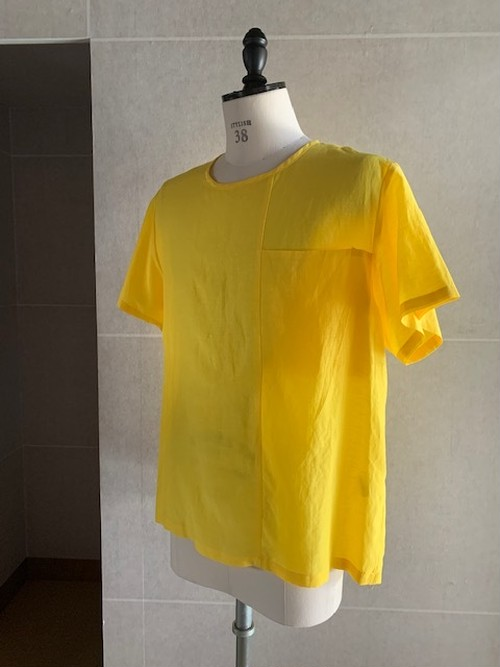 POLYPLOID FLONT SEAM T-SHIRT B YELLOW