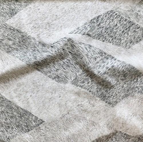 < noyama >  charcoal gray コットン生地  48cm x 50cm