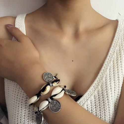 Coin & Shell bracelet